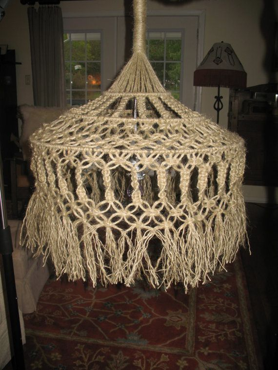 Macrame light hanging   Projects to Try   Pinterest ...