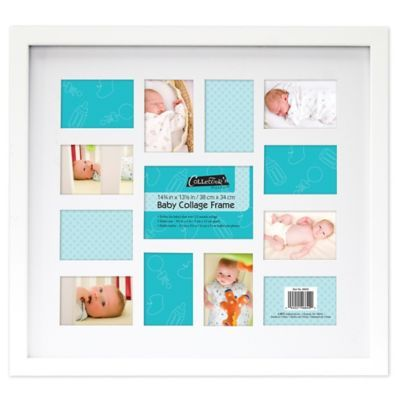 12 Month Baby Collage Frame White Baby Collage Baby Picture Frames Collage Frames