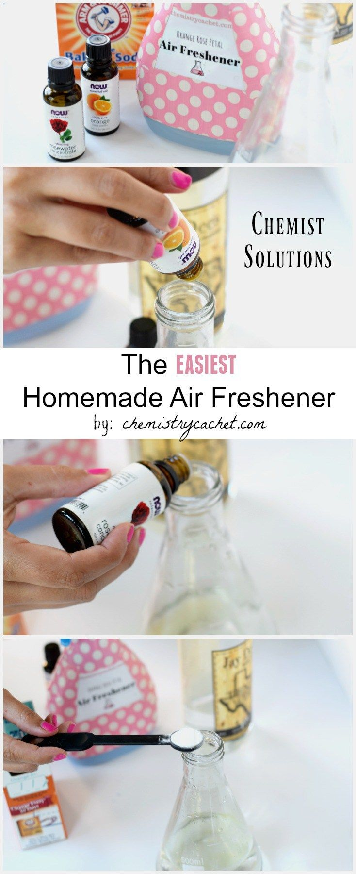 Easy Homemade Air Freshener Infused With Orange And Rose