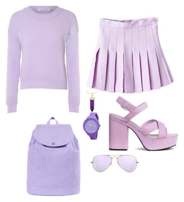 """Ariana grande's favorite purple.   -sorry the name is long in just bored-"" by oneloveorieo ❤ liked on Polyvore featuring Rip Curl, Herschel Supply Co., Glamorous, H&M, Ray-Ban and Simone I. Smith"