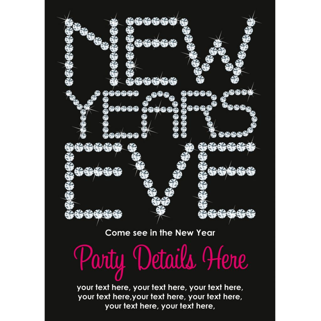Best New Year Party Invitation Wording Templates looking