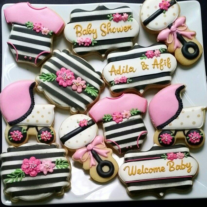 Baby Shower Cookies Kate Spade Inspired