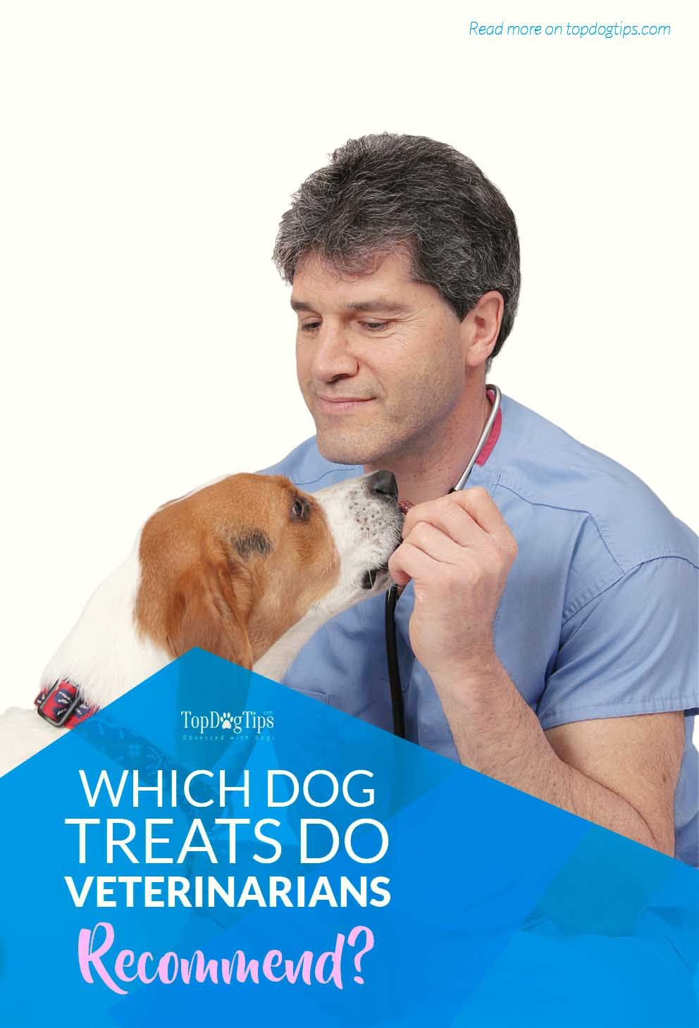 Which Dog Treats Do Veterinarians Recommend and Why? Many vets have their own preferences with regards to recommended dog treats. It's important to understand that in most cases, vet recommended treats for dogs are based on opinion, their own personal philosophies, which schools they attended, and what their professional experience has taught them.  #dogs #dogtreats #vets #veterinarian #recommended #food #health