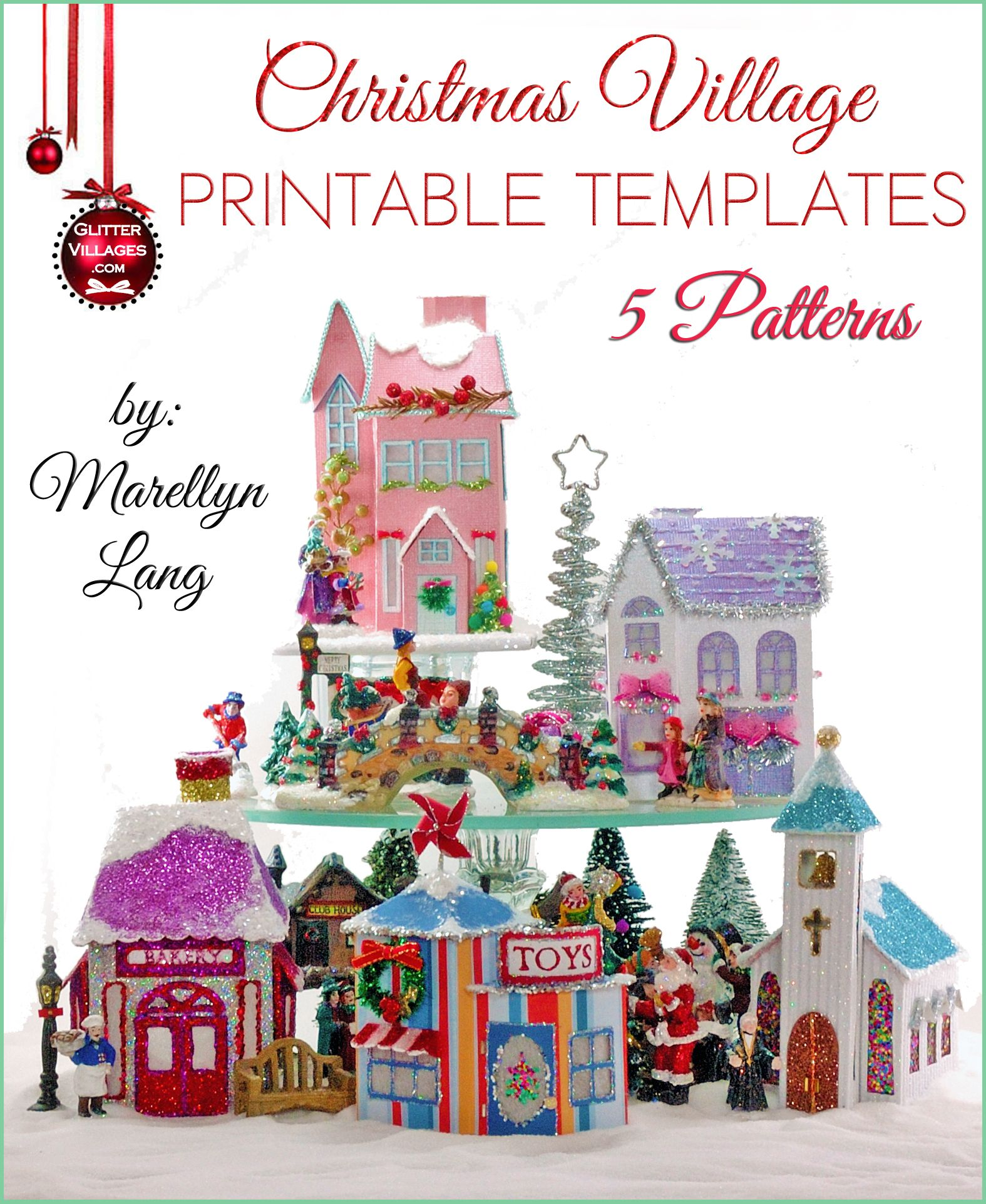 image about Printable Christmas Village Template titled 5 Xmas Village home templates toward print. Do it yourself with paper