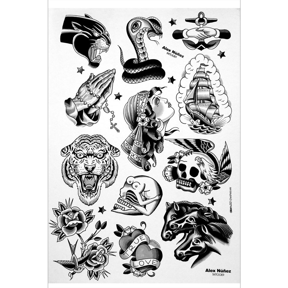 Traditional tattoos black and white google search for Black and white tattoo artists