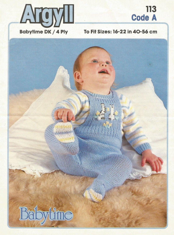 Instant Download - PDF- Vintage Argyll Dungarees and Jumper Knitting ...