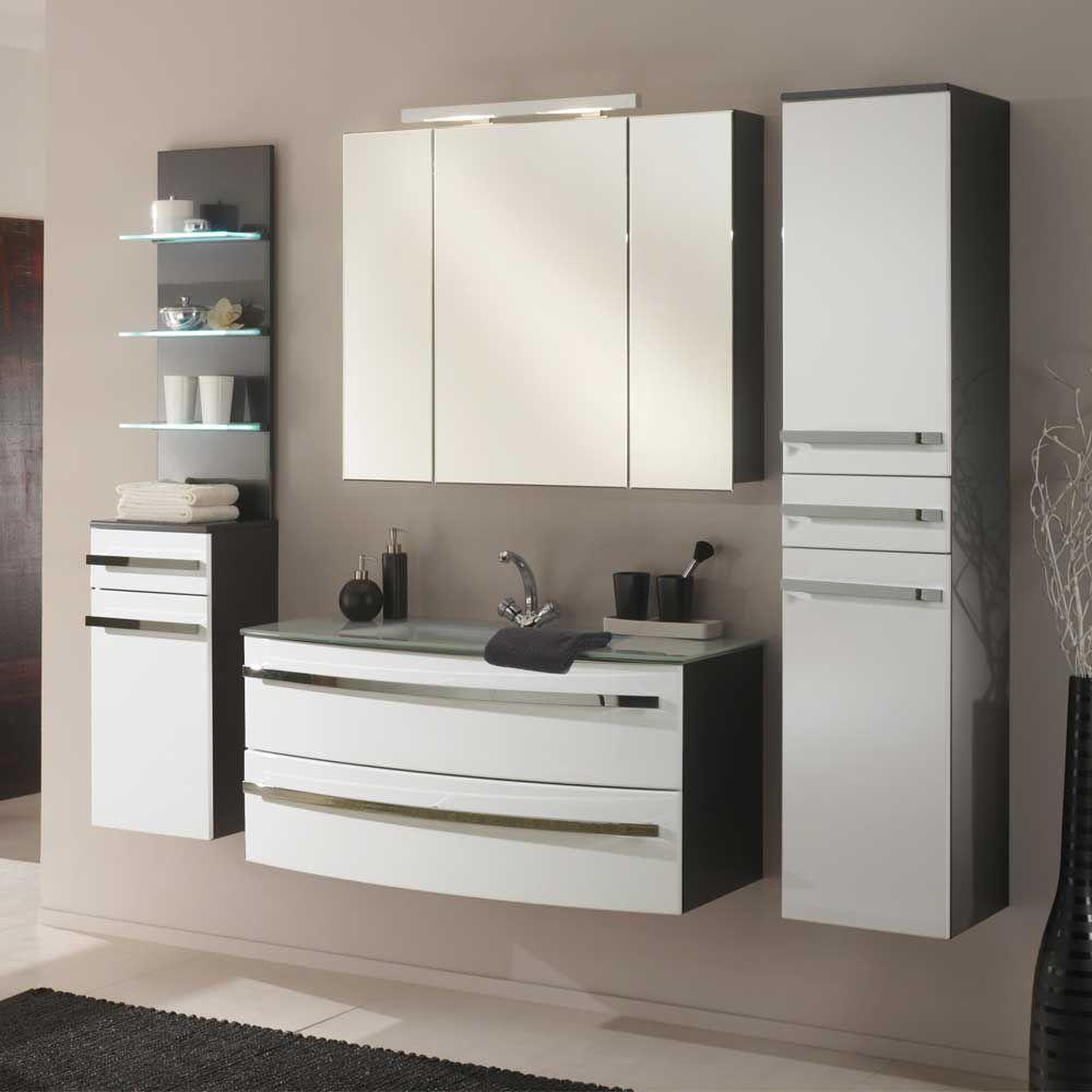 Badmobel Set In Weiss Hochglanz Grau Hochglanz 5 Teilig Jetzt Bestellen Unter Https Moebel Ladendir Bathroom Vanity Cabinets Bathroom Vanity Vanity Cabinet