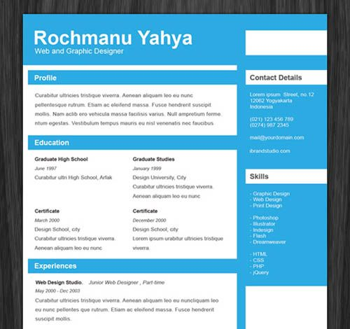 Free Creative Resume Template  Art Theme Resume