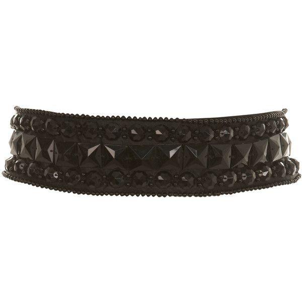 Black Jewelled Waist Belt (205.990 VND) ❤ liked on Polyvore featuring accessories, belts, cintos, women, miss selfridge, jeweled belt, embellished belt, jeweled waist belt and waist belt