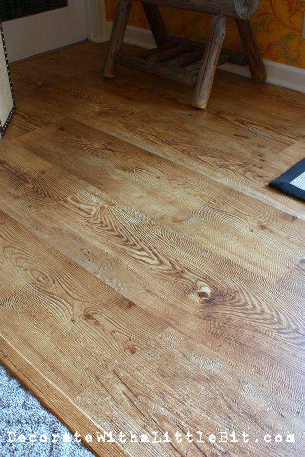 Decoratewithalittlebit Com 12 Wide Plank Laminate Floor Done