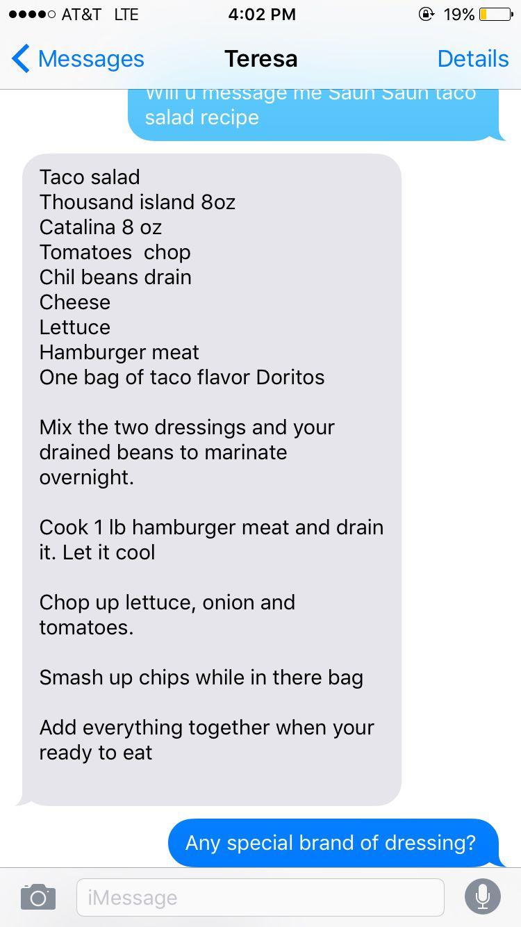 Saun Saun taco salad