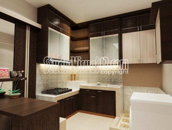 Desain kitchen set dapur kecil minimalis ide buat rumah for Desain kitchen set