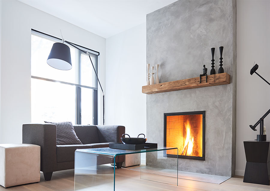 Micro Cement Fireplace Surround Fireplace Surrounds Home Fireplace Contemporary Fireplace