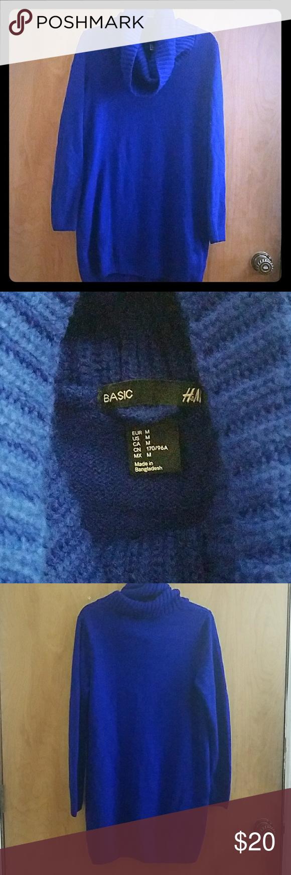 H&M cowl neck sweater dress - M | Cowl neck sweater dress, Cowl ...
