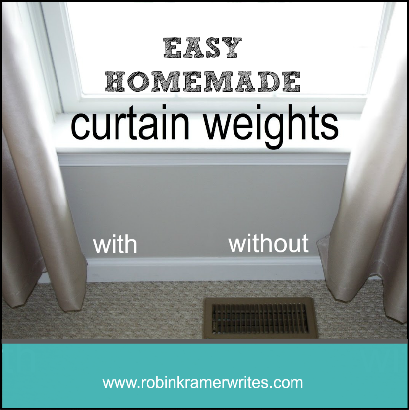 Do Your Curtains Hang Poorly Make Own Curtain Weights To Help Drape Perfectly