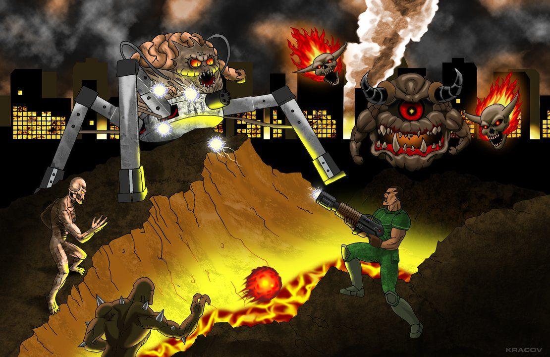 Doom 2 By Kracov Deviantart Com On Deviantart Doom 2 Doom Wallpaper