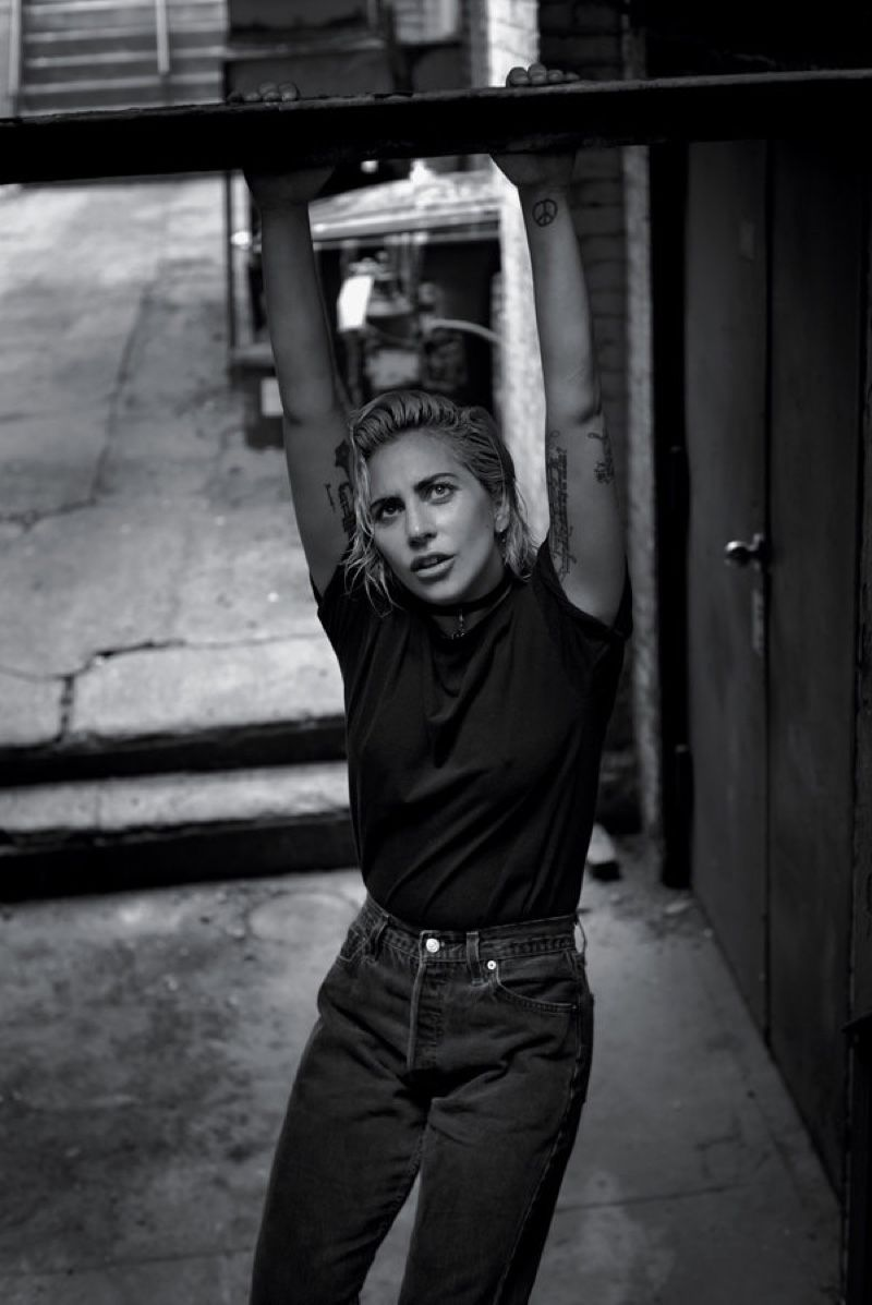12a1e5ba21167f Pop star Lady Gaga poses in a candid portrait for T Magazine s October 23