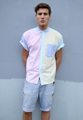 bc5f4104f 90's mens shirts | Patterned Corduroy / Cord Shirt - Unisex | Vintage,  Pastel .