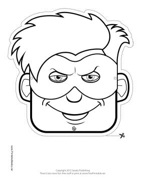 Printable Male Superhero Mask To Color Mask Superhero Masks Superhero Coloring Books