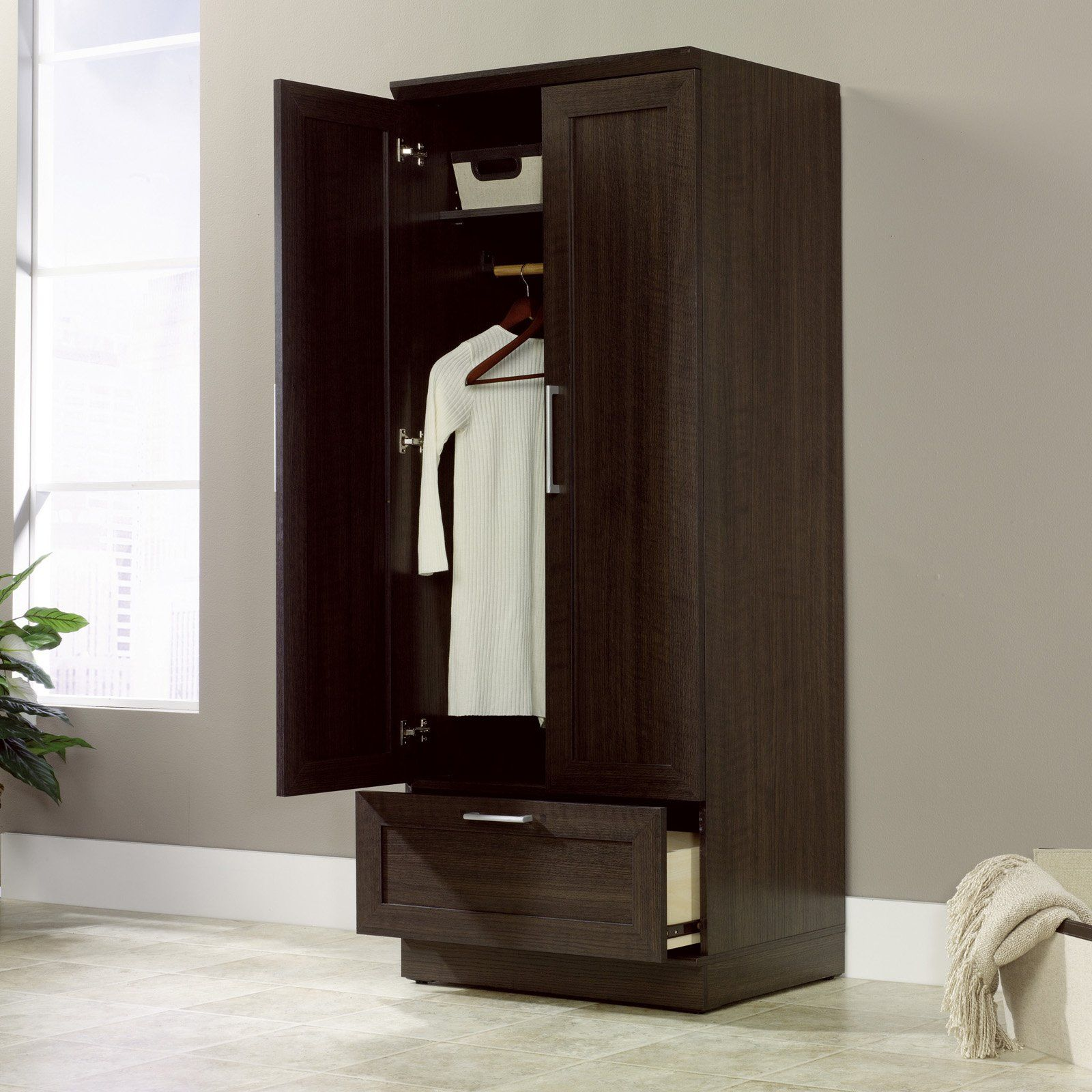 Sauder Homeplus Wardrobe Cabinet   Closet Organizers At Hayneedle $176.99