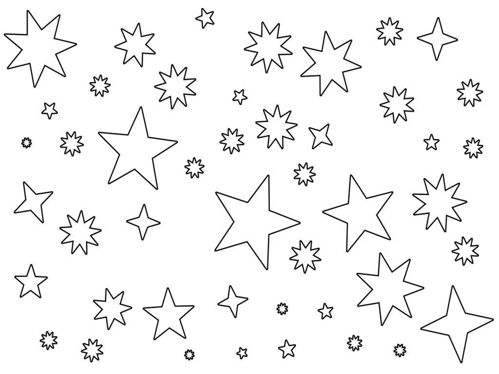 Images Of Lineart Night Sky Google Search Star Coloring Pages