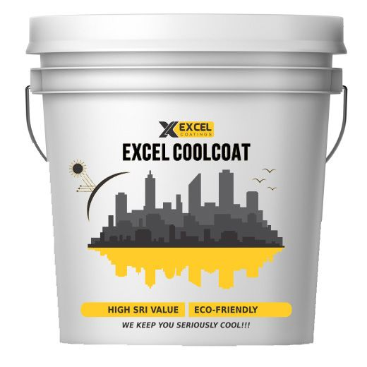 Excel Coolcoat Heat Reflective Roof Coating Cool Roof Paint Summer Cool Coating Terrace Cooling Paint Weather Shiel Roof Paint Cool Roof Roof Coating