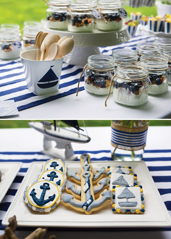 Ahoy It S A Boy Preppy Nautical Baby Shower Nautical Baby