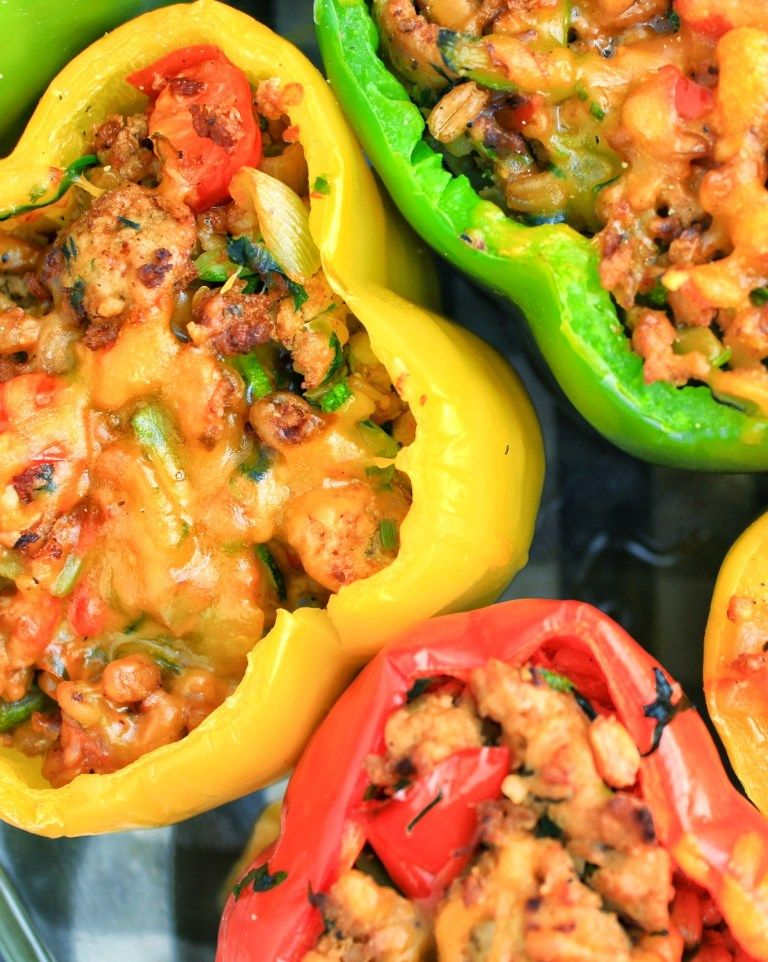 Farro Turkey Stuffed Bell Peppers Stuffed Peppers Stuffed Bell Peppers Bell Pepper Recipes