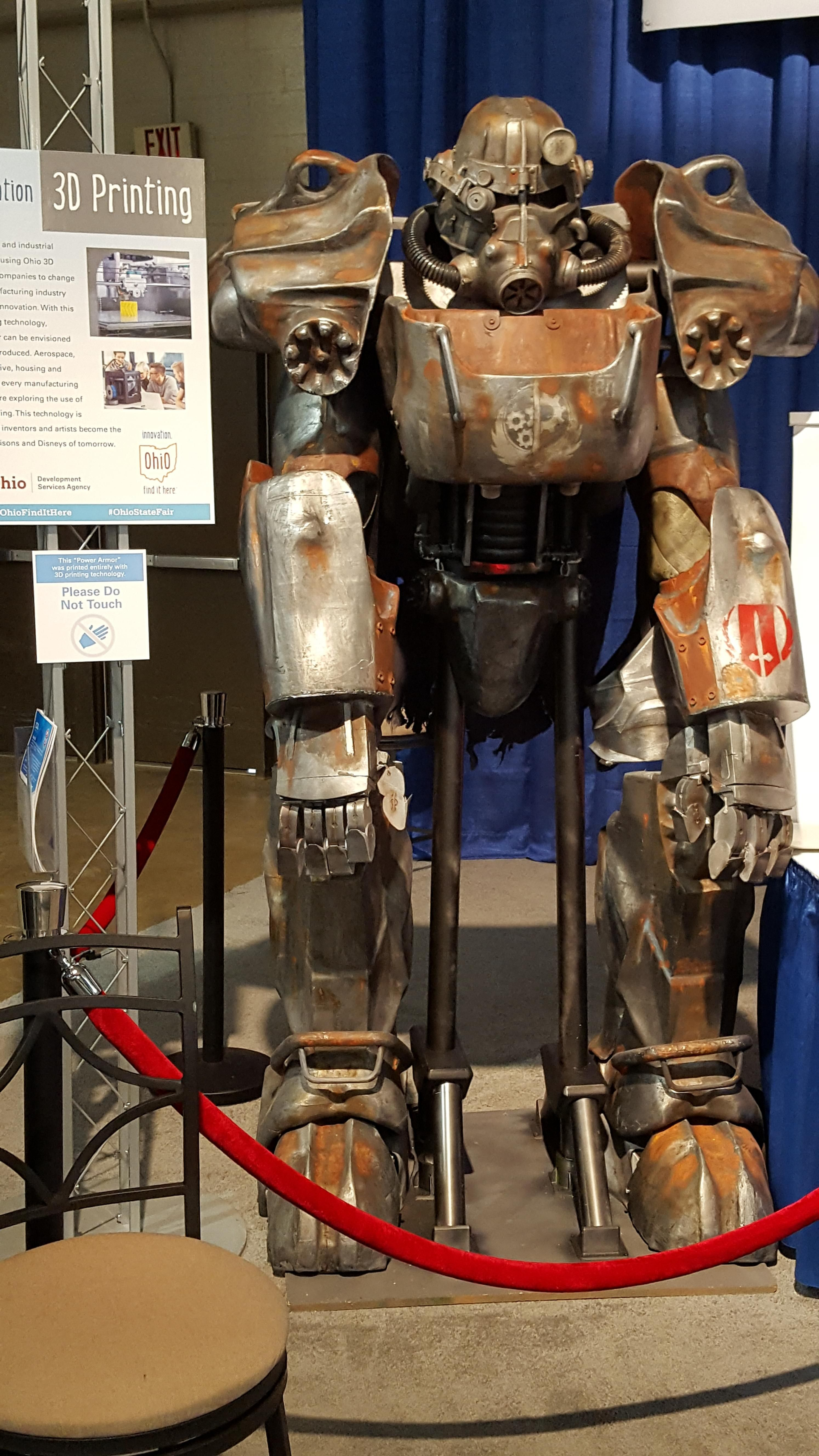 3d printed power armor at the ohio state fair fallout4 obsession