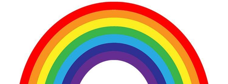 Ilustracion de un pequeno unicornio en un arco iris diseno. Cores do arco-íris - Quantas são e quais os seus