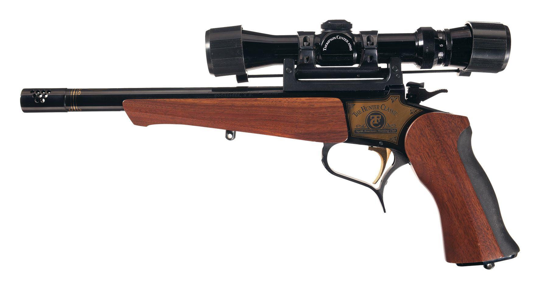 Thompson Center Contender Single Shot Pistol With Scope