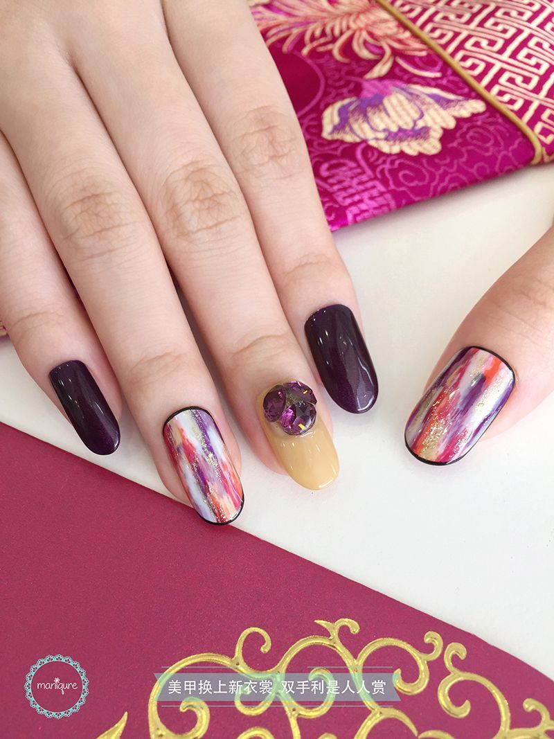 Chinese New Year Nail Art CNY Manicure Nail art, Nails