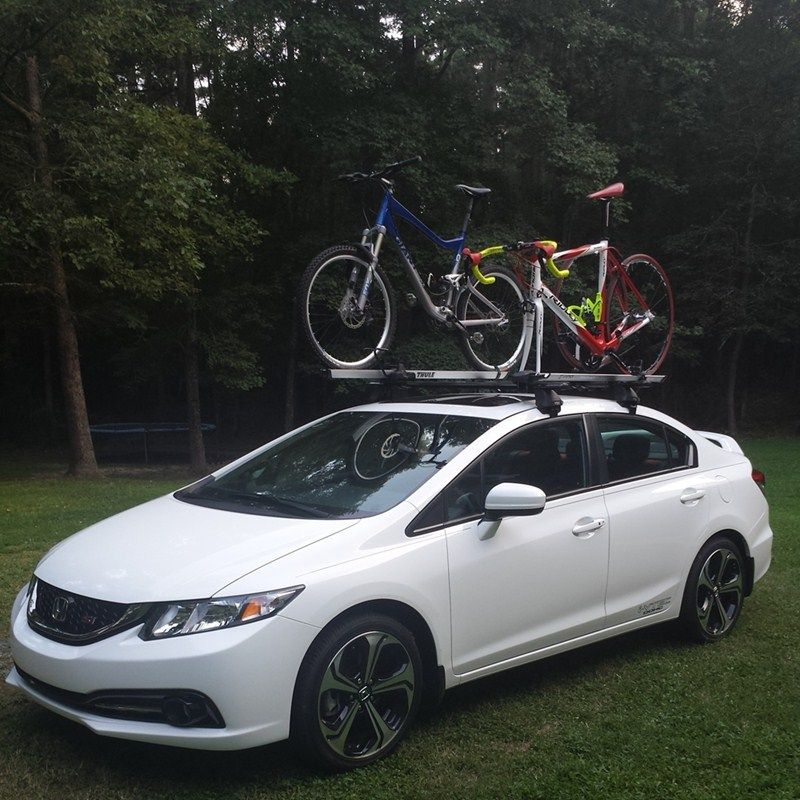 Roof Rack For 2013 Honda Civic Etrailer Com Honda Civic New Honda Bike Rack