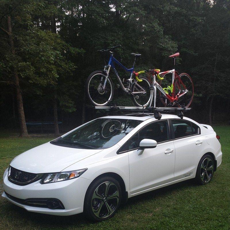 honda civic coupe bike rack