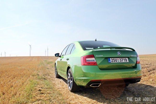 Skoda Octaviars In Green