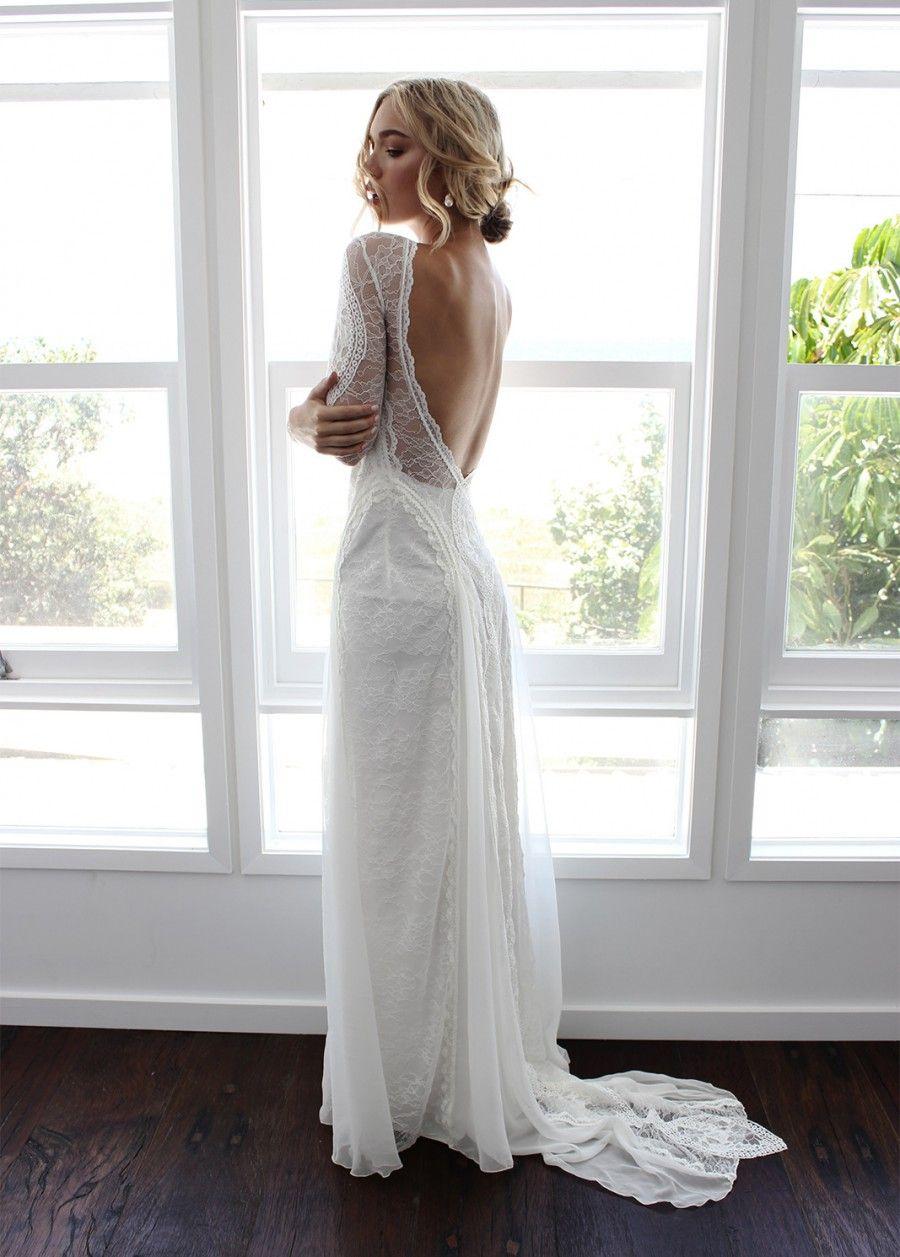 50 Beautiful Long Sleeve Wedding Dresses Stillwhite Blog Wedding Dress Long Sleeve French Lace Wedding Dress Trendy Wedding Dresses [ 1257 x 900 Pixel ]