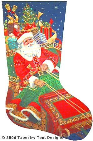 click here to view larger image of Santa's On His Way (hand painted canvases)