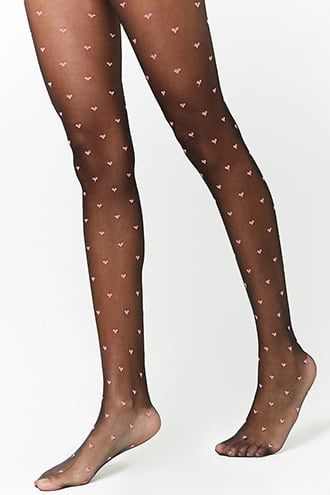 7454ffd9b22fb Sheer Heart Tights   Products   Heart tights, Tights, Sexy stockings