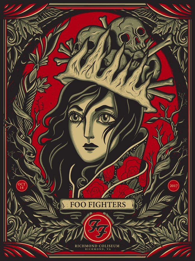 Foo Fighters Richmond Coliseum 10/14 this was my show poster ...