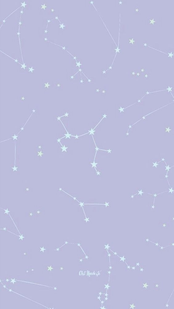 purple pastel constelation