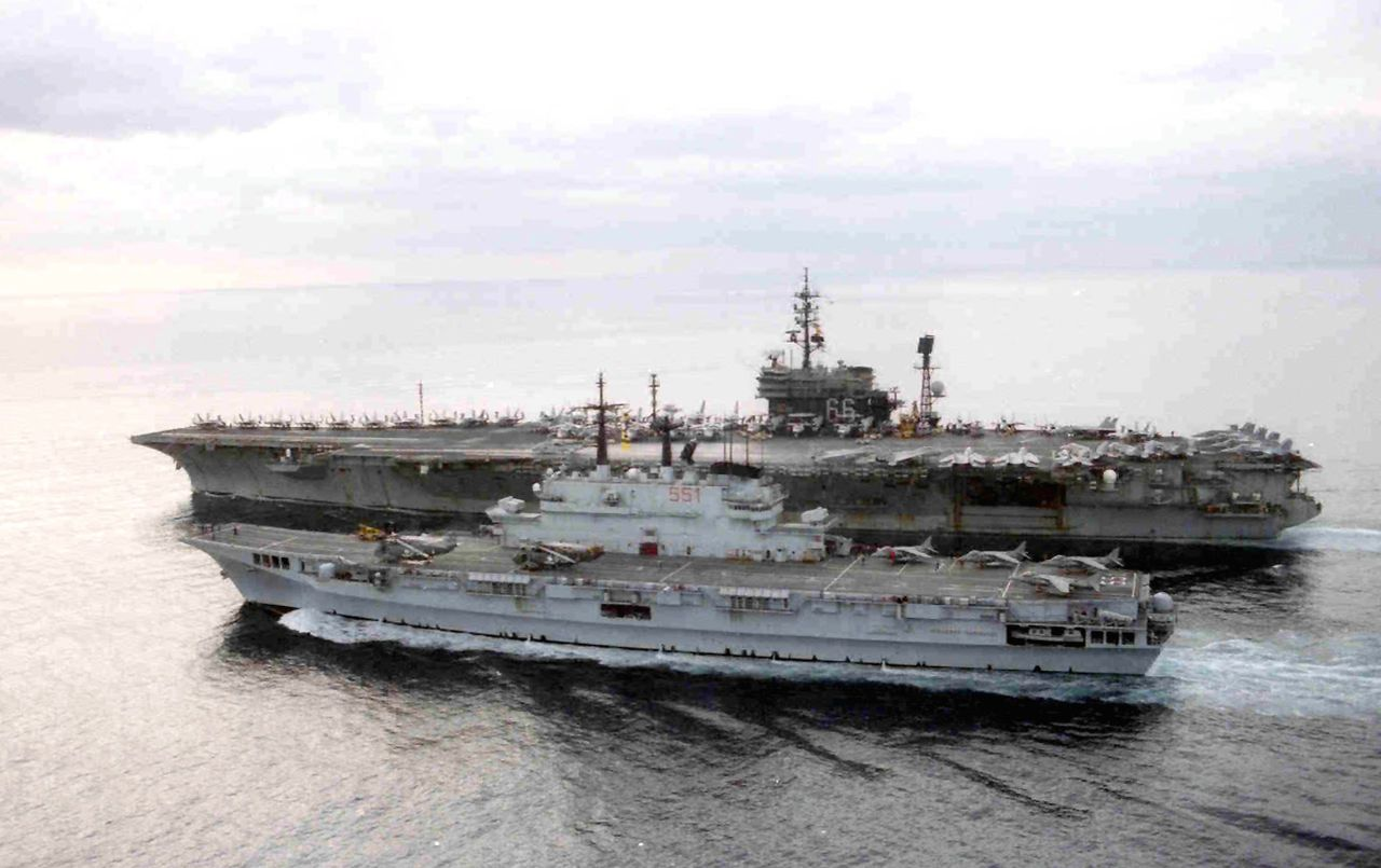 USS America Operating With The Italian Aircraft Carrier Giuseppe - Uss america cruise ship