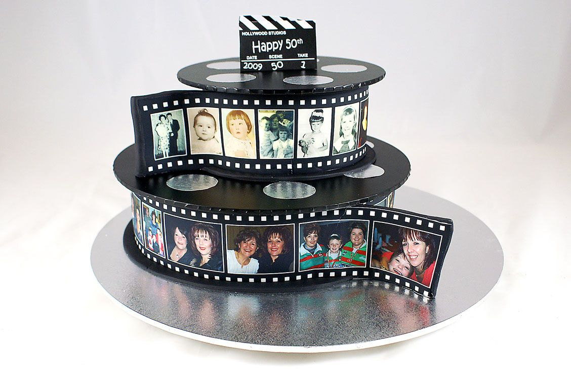 Cake With Photo Reel : film reel cake - Google Search cake Pinterest Film reels, Films and Google search