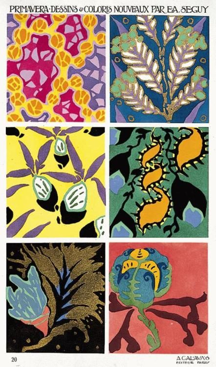Spring: drawings and new colours by EA Seguy, Paris, 1913. From the Album de la Decoration collection, edited by A. Calavas
