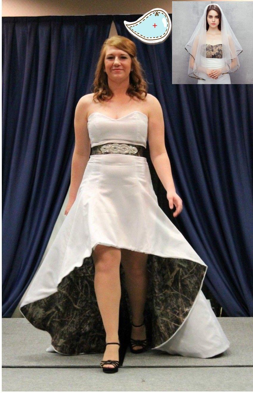 22++ White wedding dress with camo train ideas