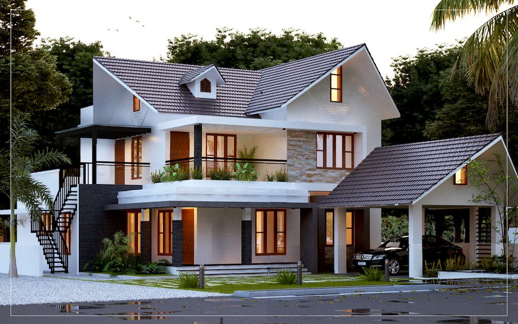 4bhk Kerala  style  home  plans  in 2020 Kerala  house  design