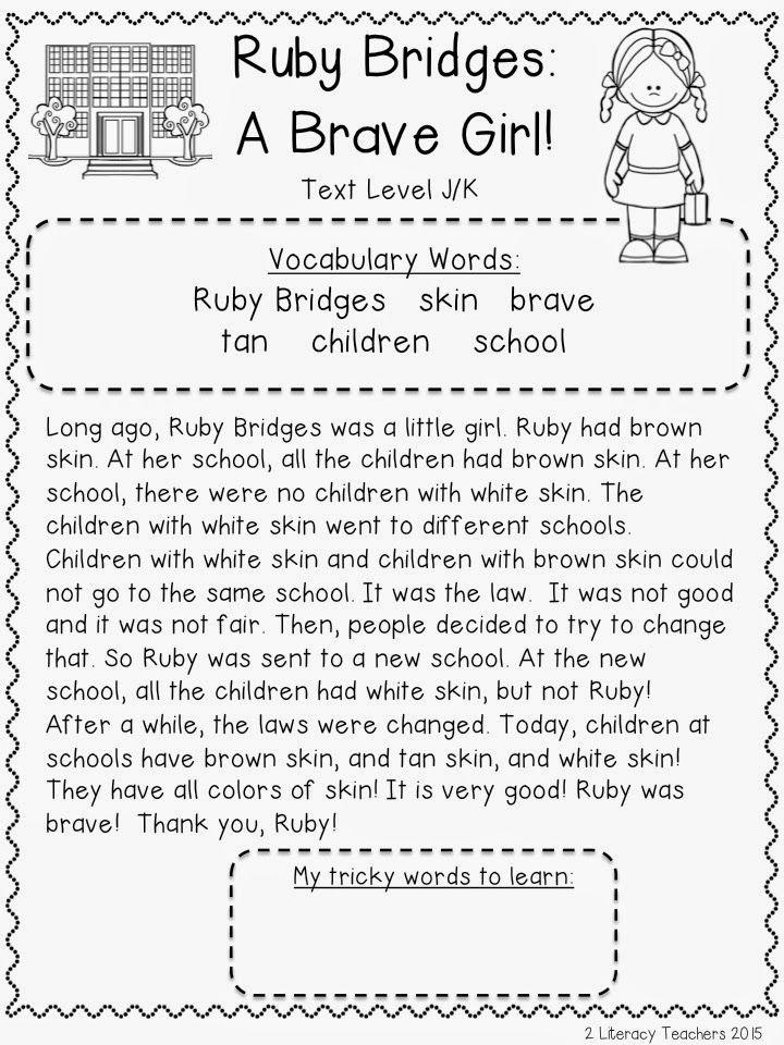 Mlk And A Freebie Ruby Bridges Literacy Teachers Ruby