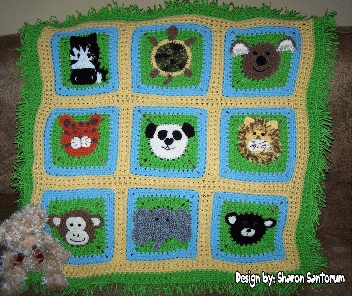 A Day at the Zoo Crochet Baby Afghan or Blanket Pattern PDF ...