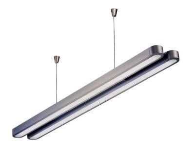 Suspension Fluorescente Plata 2x28w Lamparas Luzete Tu Especialista En Iluminacion Decoracion Lamparas De D Luces De Techo Iluminacion Luces Para Techo