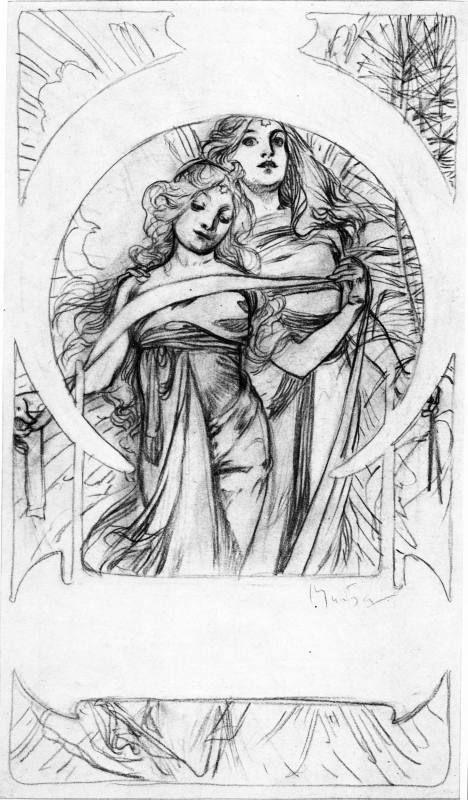 1900 \'Cloches de Noël et de Pâques\' © Alphonse Mucha | Alfons Mucha ...