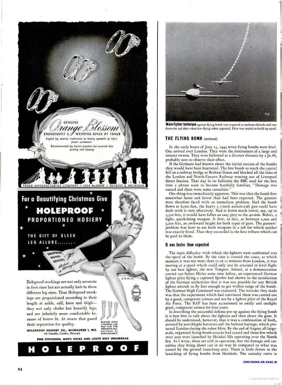 LIFE - 1944  The Flying Bomb